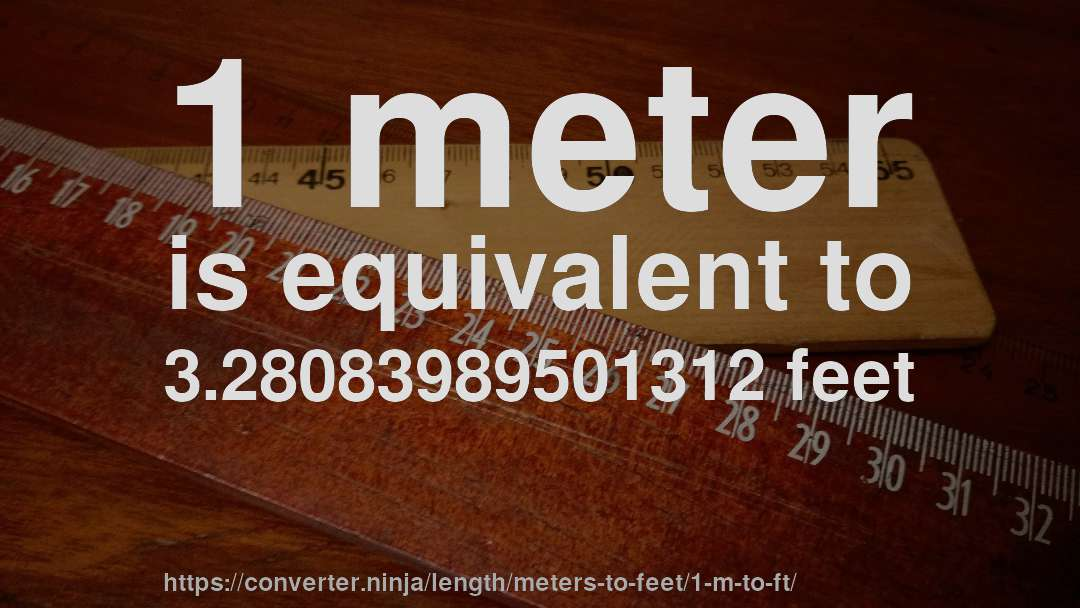 Meters To Feet Conversion Calculator M To Ft Convert Conversion